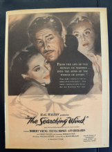 The Searching Wind (1946) - Sylvia Sidney | Vintage Trade Ad